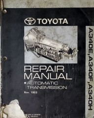 Toyota A340E, A340F, A340H Repair Manual Automatic Transmission Nov. 1993