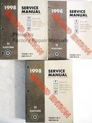 1998 GM H Platform Service Manual 1998 Pontiac Bonneville, Buick Le Sabre, Olds Regency, 88, LSS Volume 1, 2, 3