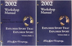 2002 Ford Workshop Manual Explorer Sport Trac Explorer Sport Volume 1, 2