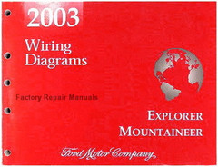 2003 Ford Explorer and Mercury Mountaineer Electrical Wiring Diagrams