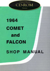 1964 Ford Falcon, Comet, Ranchero Factory Shop Manual CD