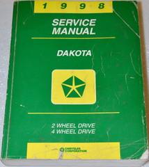 1998 Dodge Dakota Pick-up Factory Service Manual - Original Shop Repair