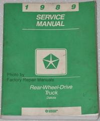 1989 Dodge Dakota Truck Factory Service Manual Original Shop Repair
