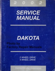 2002 Service Manual Dakota 2 Wheel Drive 4 Wheel Drive