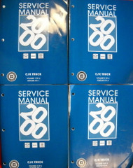 2000 Service Manual Chevrolet GMC Cadillac CK Truck Volume 1, 2, 3, 4