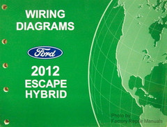 2012 Ford Escape Electrical Wiring Diagrams Manual Gas Models Factory Repair Manuals