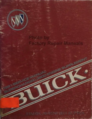 1991 Buick Park Avenue Ultra 3.8L Engine Service Manual Supplement