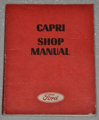 1970 1971 1972 Mercury Capri Factory Shop Manual - Original Ford Service Repair