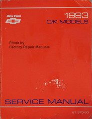 Chevrolet 1993 C/K Models Service Manual