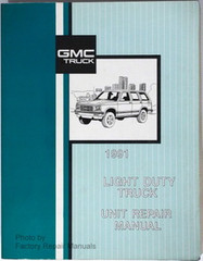 1991 GMC Light Duty Truck Unit Repair Manual