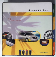 2004 Toyota New Car Accessories Catalog Manual Part # Tundra 4Runner Tacoma HUGE