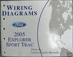 2005 Ford Explorer Sport Trac Electrical Wiring Diagrams Original Manual