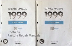 1999 Cadillac Seville Factory Service Manual Volume 1, 2