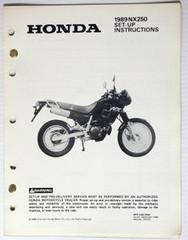 1989 NX250 Set-Up Instructions Manual NX 250 Original w/ Wiring Diagram