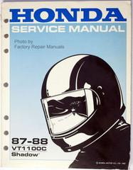 1987 1988 Honda VT1100C Factory Service Manual Shadow 1100 Original Shop Repair