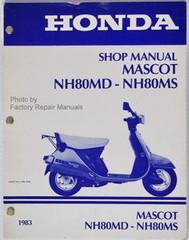 1983 Honda NH50 NH80 Scooter Factory Service Manual Lead Mascot Shop Repair