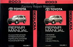 2003 Toyota Sequoia Repair Manual Volume 1, 2