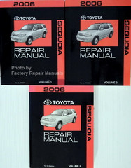 2006 Toyota Sequoia Repair Manual Volume 1, 2, 3