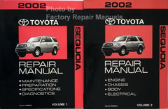 2002 Toyota Sequoia Repair Manuals Volume 1 and 2