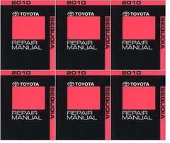 2010 Toyota Sequoia Factory Repair Manual 6 Volume Set - Original Shop Service