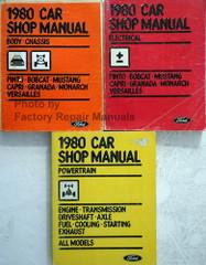 1980 Ford Mustang, Granada & Pinto / Mercury Bobcat, Monarch & Capri / Lincoln Versailles Service Manuals