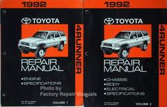 1992 Toyota 4Runner Repair Manual Volume 1 and 2