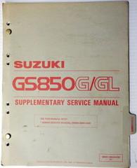 1983 Suzuki GS850 Service Manual Supplement GS850G GS850GL GS850GD Shop Repair