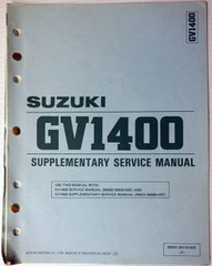 1987 Suzuki GV1400 Service Manual Supplement GV1400G CG / DG Factory Shop Repair