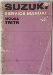 1974 1975 Suzuki TM75 Mini Cross Factory Service Manual TM75L Shop Repair