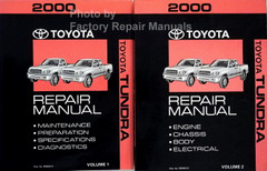 2000 Toyota Tundra Repair Manual Volumes 1 and 2