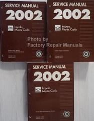 Service Manual 2002 Chevrolet Impala Monte Carlo Volume 1, 2, 3