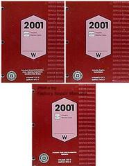 2001 GM W Platform Impala Monte Carlo Service Manual Volume 1, 2, 3