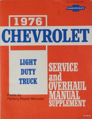 1976 Chevrolet Light Duty Truck Service and Overhaul Manual Supplement