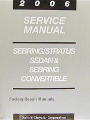 2006 Chrysler Sebring Dodge Stratus Factory Service Manual Original Shop Repair
