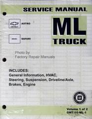 2005 Service Manual Chevrolet Astro GMC Safari ML Truck Volume 1 & 2 Front View