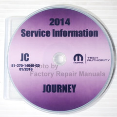 2014 Dodge Journey Mopar Service Information Manual CD