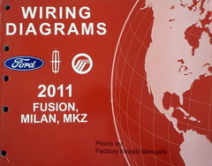 2011 Fusion Milan and MKZ Electrical Wiring Diagrams Manual - Gas Models