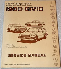 1983 Honda Civic Factory Service Manual - Original Shop Repair