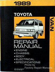 1989 Toyota Van Repair Manual