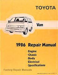Toyota Van 1986 Repair Manual
