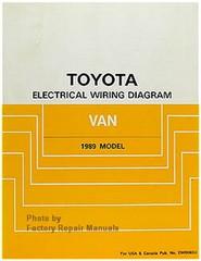 1989 Toyota Van Factory Service Manual Minivan Original Shop Repair Factory Repair Manuals