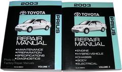 2003 Toyota Prius Factory Service Manual 2 Volume Set - Original Shop Repair