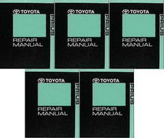 2011 Toyota Prius Factory Service Manual 5 Volume Set - Dealer Shop Repair