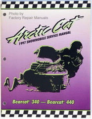 1997 Arctic Cat Bearcat 340, 440 Factory Service Manual Snowmobile Shop Repair