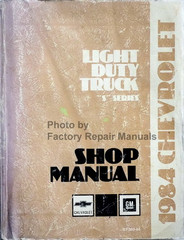 1984 Chevrolet Light Duty Truck S Series Shop Manual