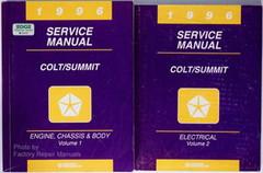 1996 Dodge Plymouth Colt Eagle Summit Factory Service Manual Set Shop Repair