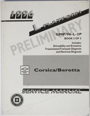 1996 Chevy Corsica Beretta Factory Service Manual Volume 2 Original Shop Repair