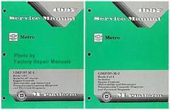 1997 Chevrolet Geo Metro Factory Service Manual Set - Original Shop Repair