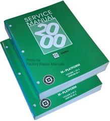 2000 2001 Chevrolet Metro Service Manual Volume 1, 2