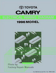 1995 Toyota Camry Electrical Wiring Diagrams Original ...